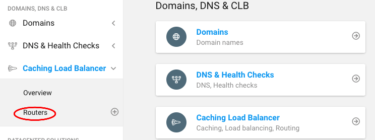 Domains routers
